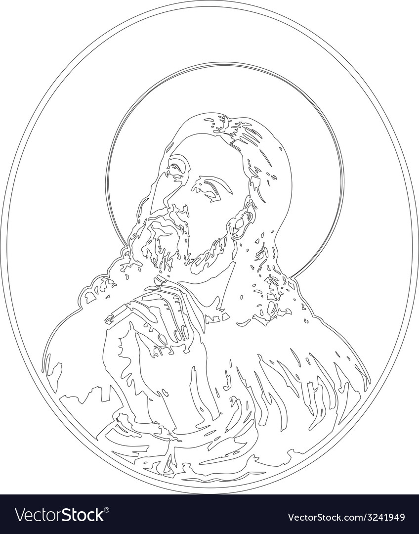 Jesus praying vector | Price: 1 Credit (USD $1)