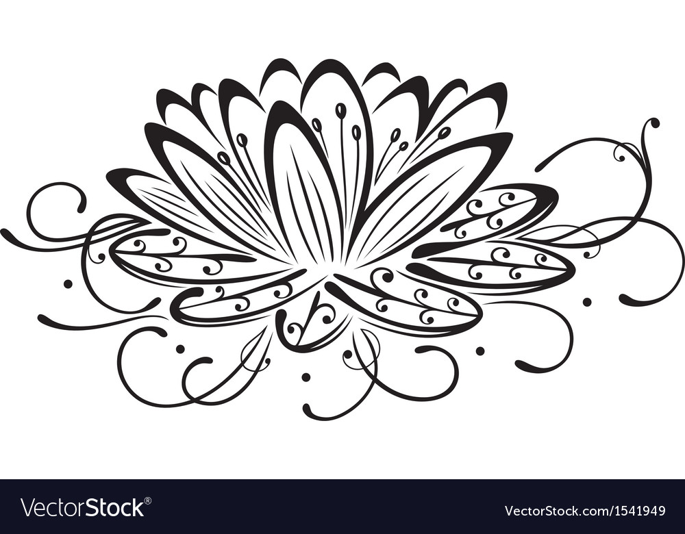 Lotus flower design element vector | Price: 1 Credit (USD $1)