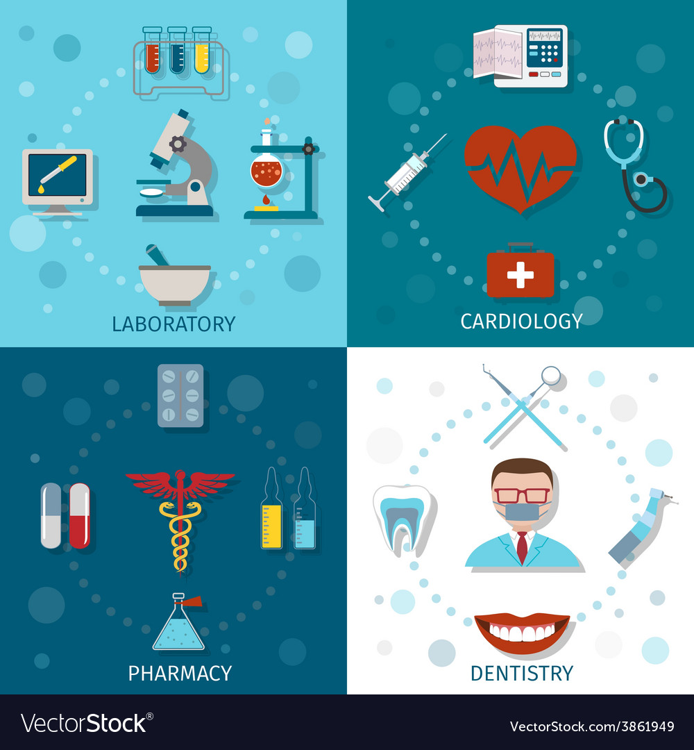 Medical set flat vector | Price: 1 Credit (USD $1)