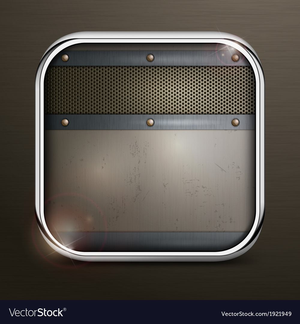 Metal square border icon vector | Price: 1 Credit (USD $1)