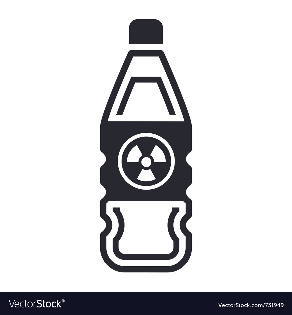 Nuclear waste in bottle vector | Price: 1 Credit (USD $1)