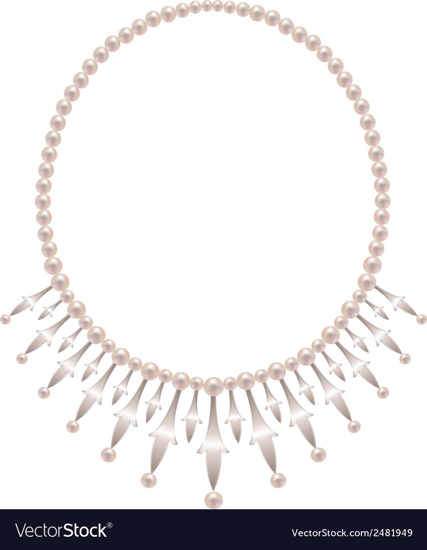 Pearl necklace vector   Price: 1 Credit (USD $1)