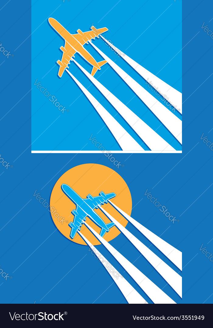Plane symbols vector | Price: 1 Credit (USD $1)