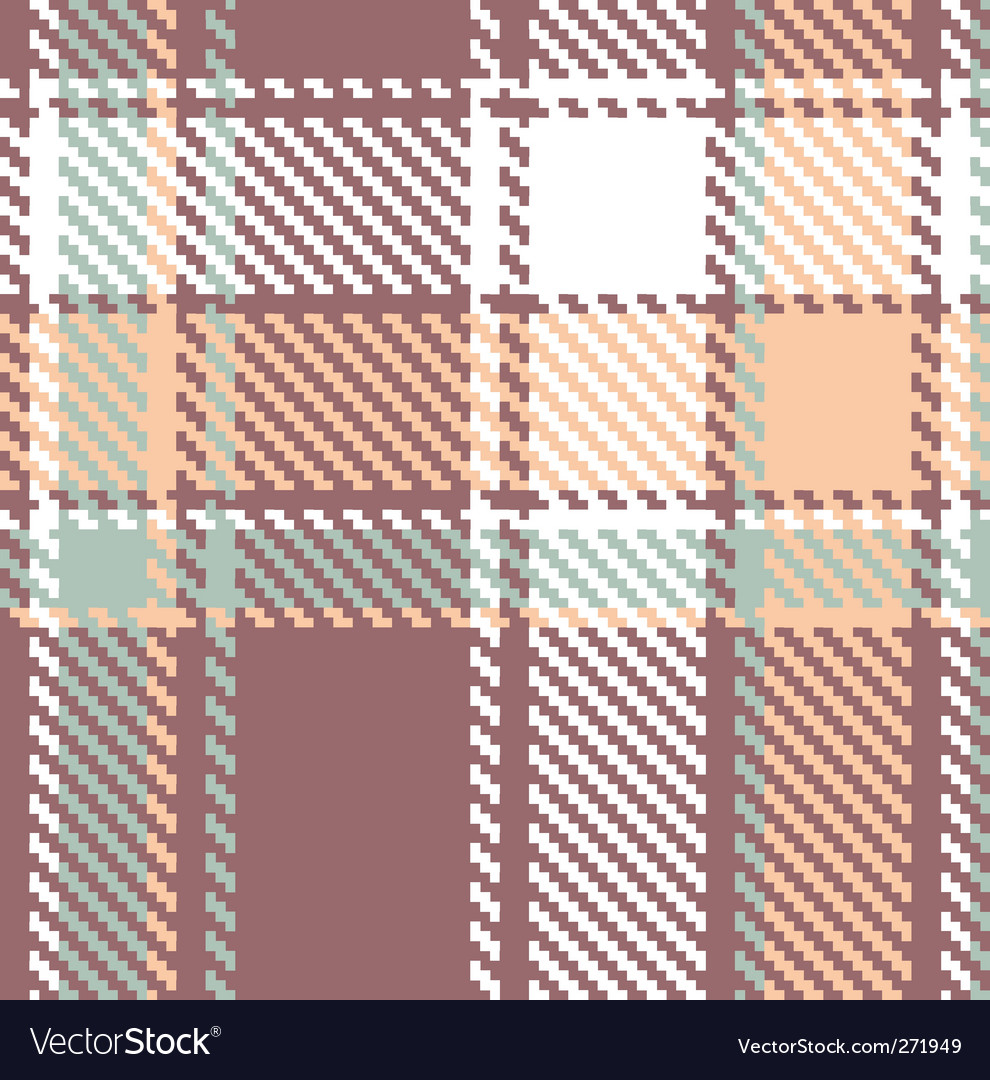Seamless textured tartan plaid pattern vector | Price: 1 Credit (USD $1)