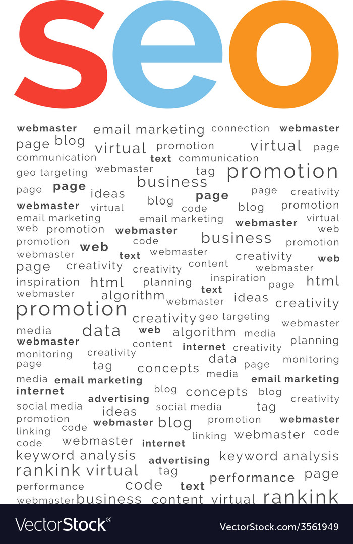 Seo word abstract vector | Price: 1 Credit (USD $1)