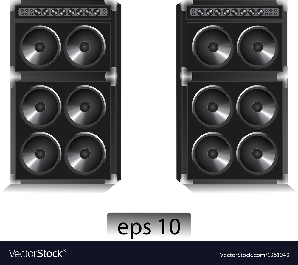 Two large speakers vector | Price: 1 Credit (USD $1)