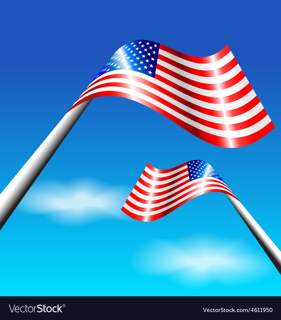 American flag for independence day usa vector   Price: 1 Credit (USD $1)