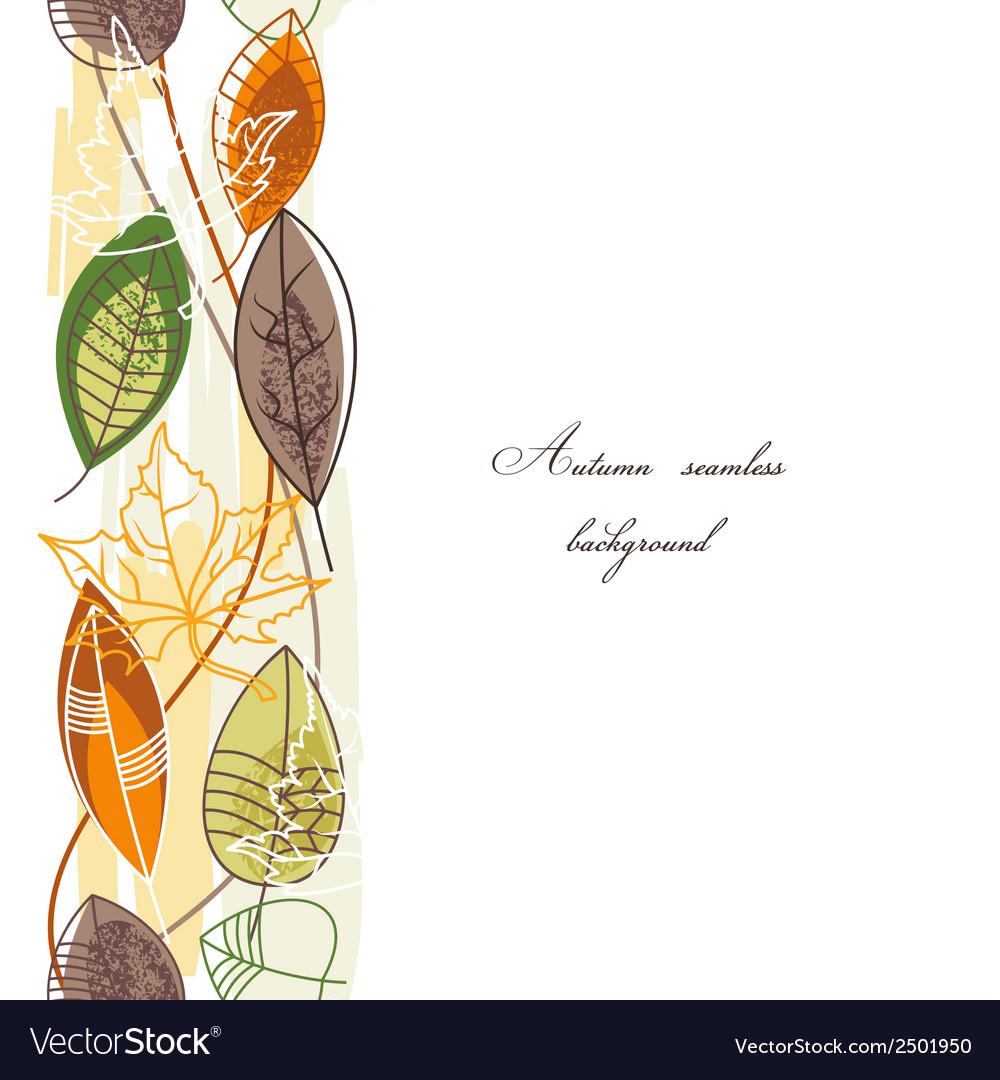 Autumn background seamless pattern vector