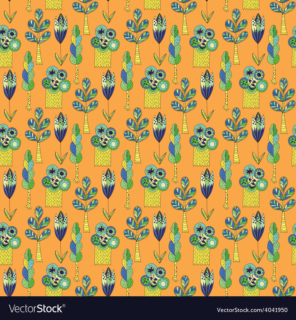Background with green trees vector | Price: 1 Credit (USD $1)