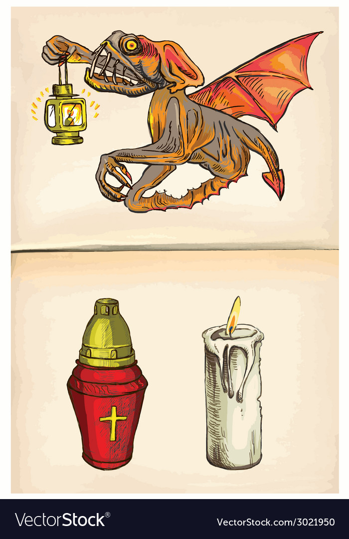 Beyonder and candles - an hand drawn vector | Price: 1 Credit (USD $1)