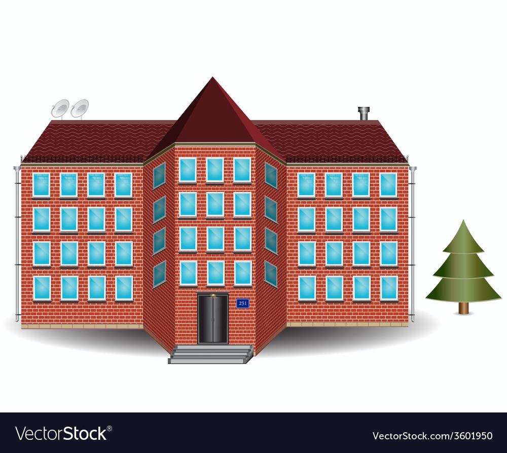 Brick house vector   Price: 1 Credit (USD $1)