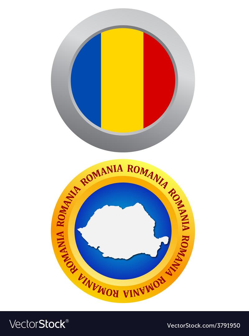 Button as a symbol romania vector | Price: 1 Credit (USD $1)