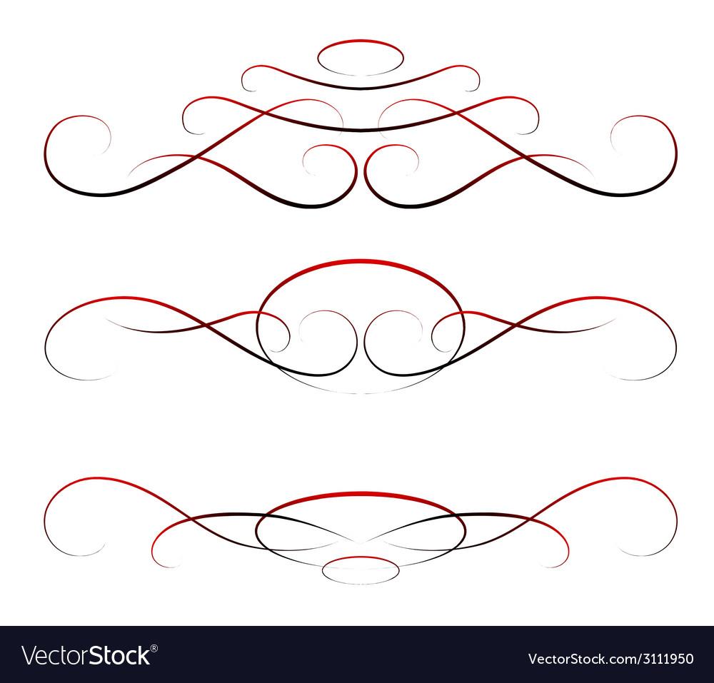 Elements of design calligraphy set vector | Price: 1 Credit (USD $1)