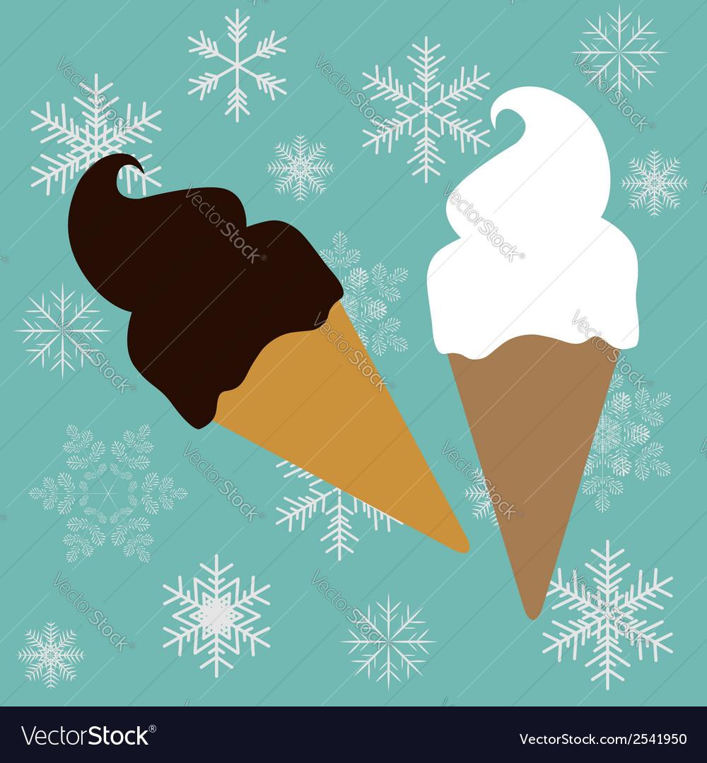 Ice-creams cone vector | Price: 1 Credit (USD $1)