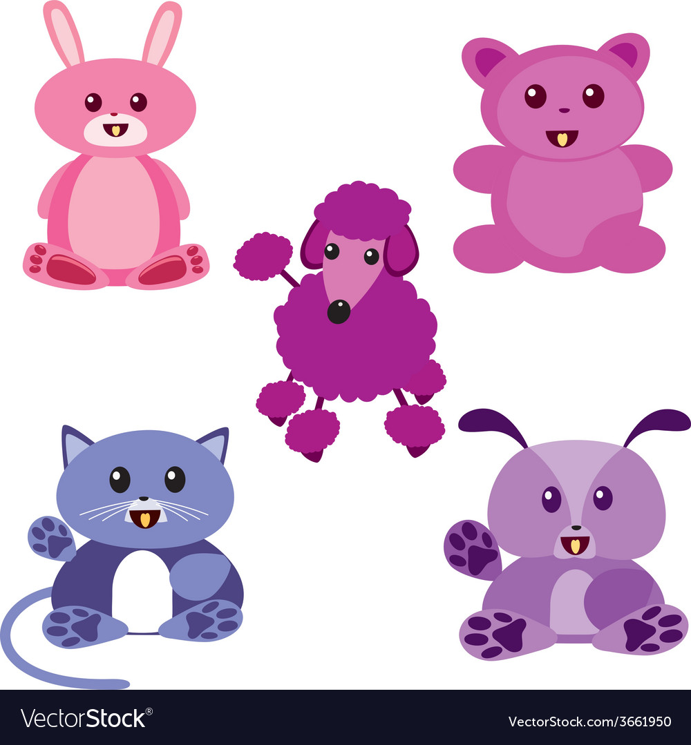 Kawaii animals vector | Price: 1 Credit (USD $1)
