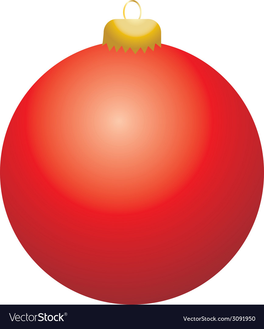 Red ball ornament vector | Price: 1 Credit (USD $1)