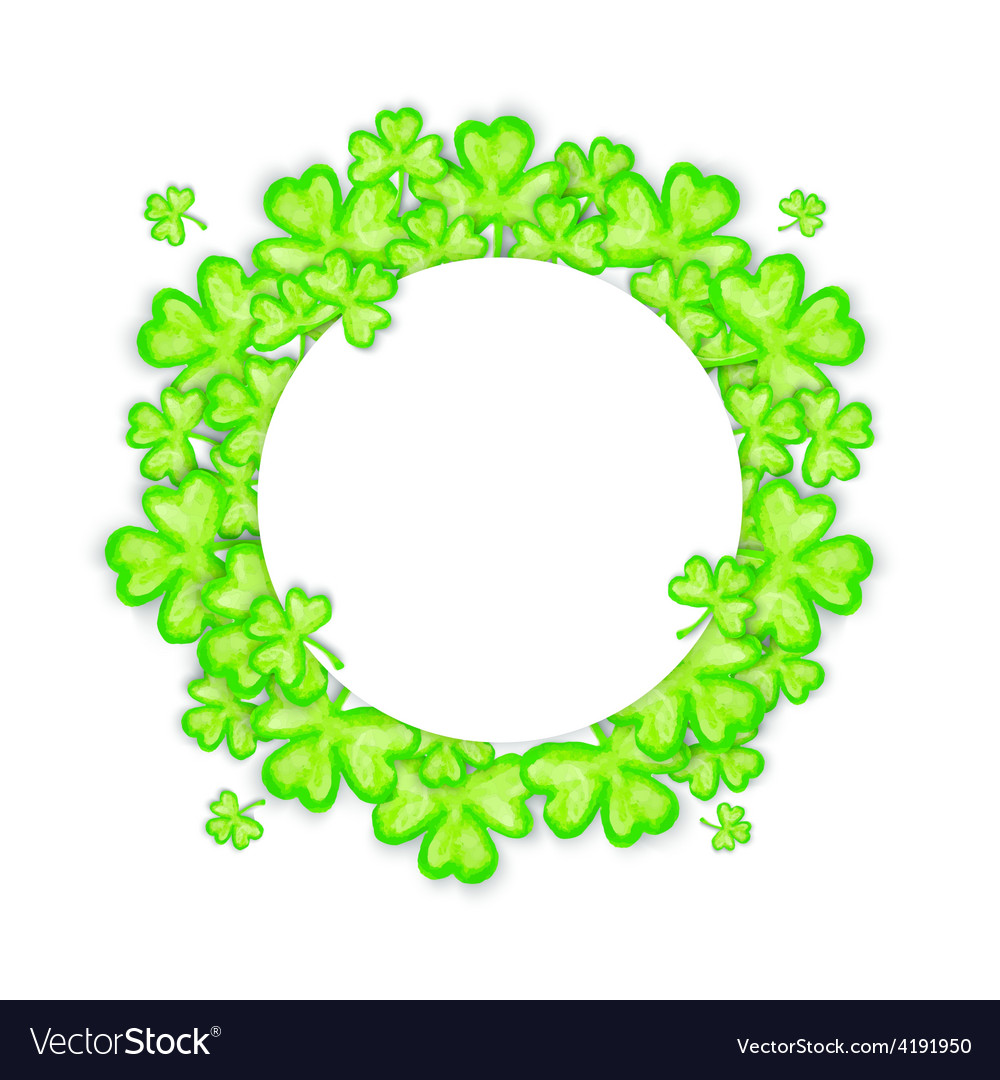 St patricks day holiday frame vector | Price: 1 Credit (USD $1)