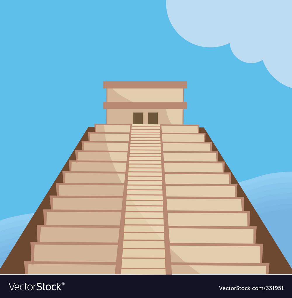Aztec temple vector | Price: 1 Credit (USD $1)