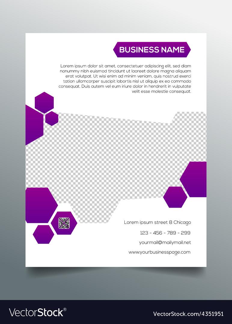 Business flyer template - creative purple design vector | Price: 1 Credit (USD $1)
