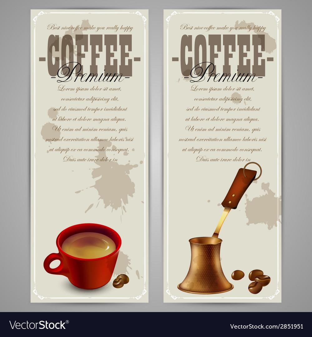 Coffee menu design vector | Price: 1 Credit (USD $1)