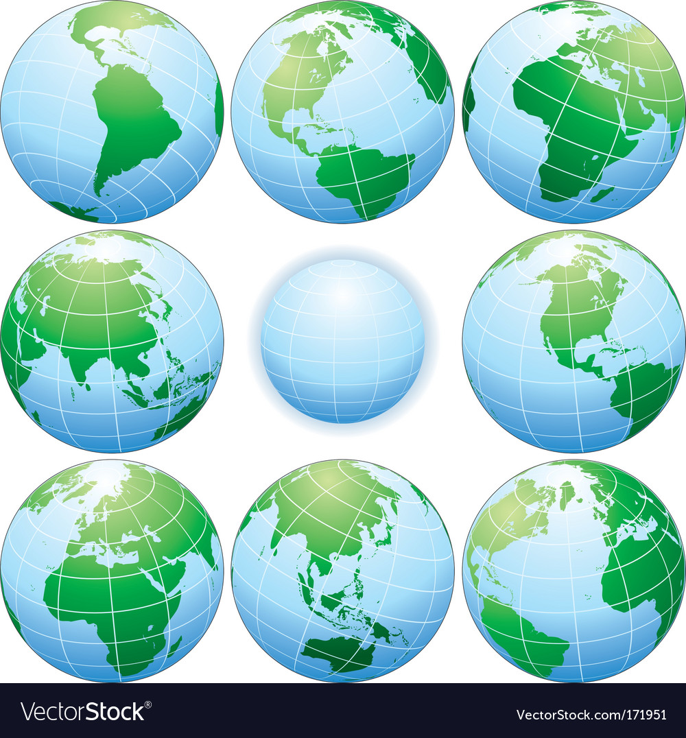 Globes vector | Price:  Credit (USD $)