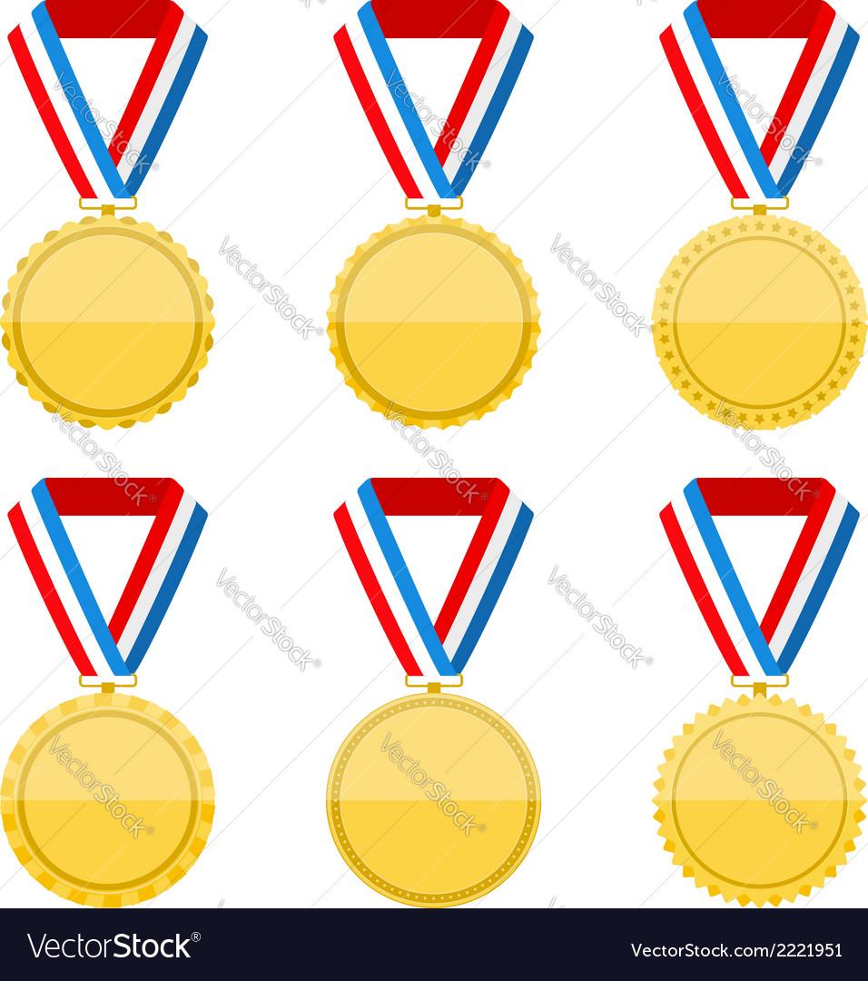 Golden medals vector | Price: 1 Credit (USD $1)