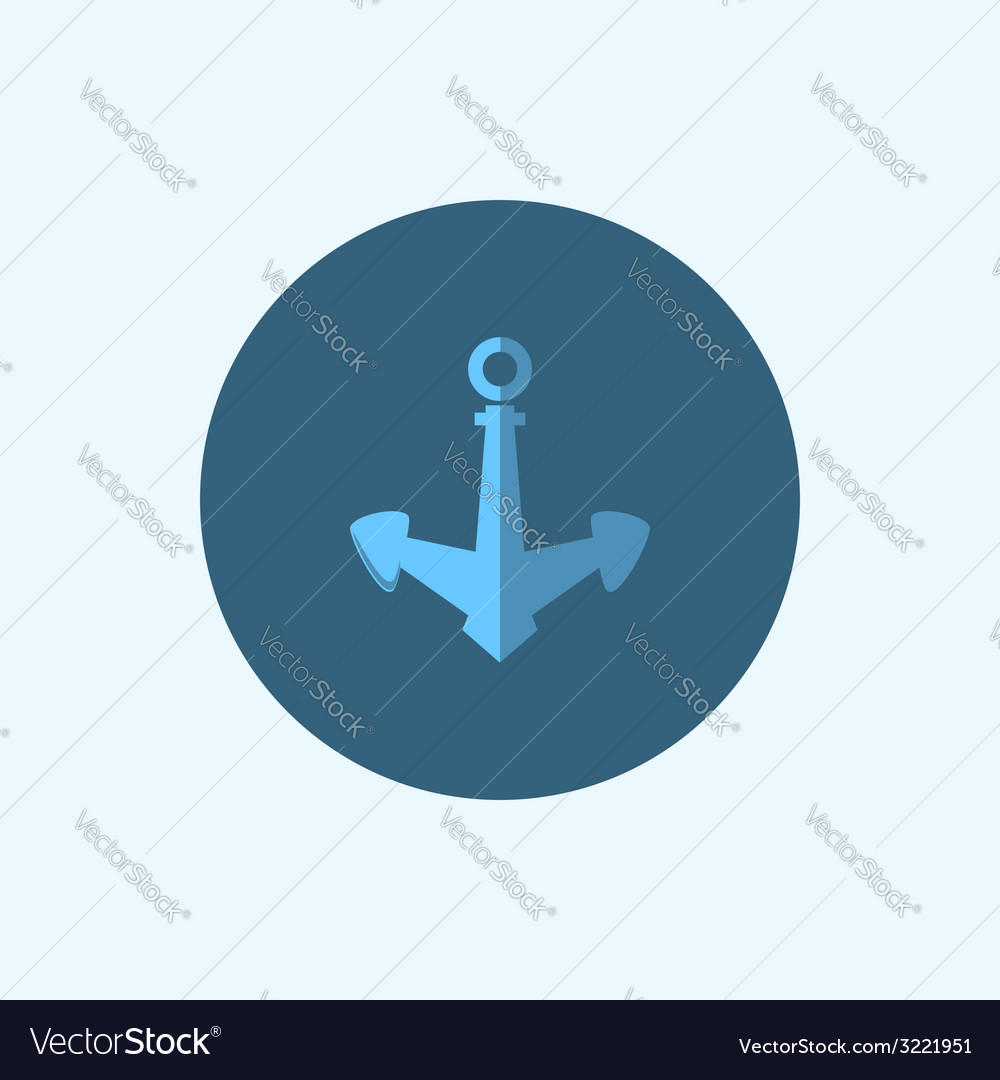 Icon with colored anchor vector | Price: 1 Credit (USD $1)