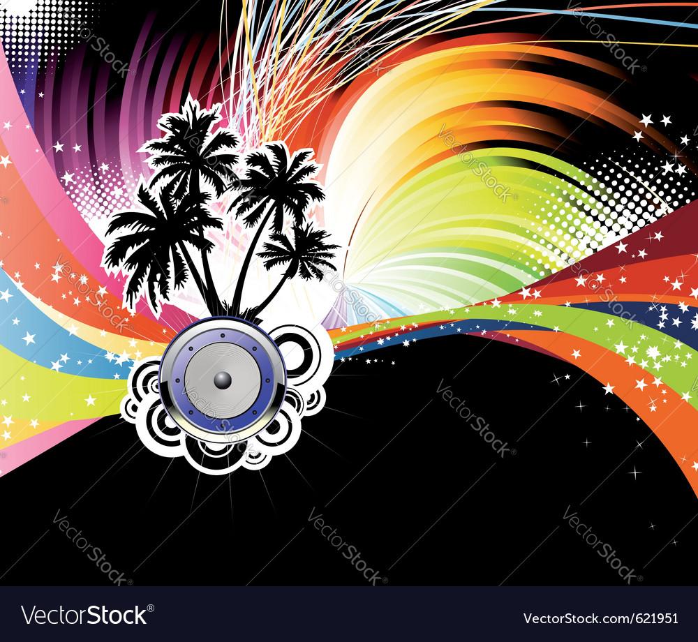 Night disco poster vector | Price: 1 Credit (USD $1)