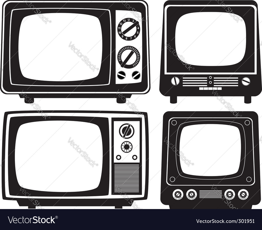 Retro tv set vector | Price: 1 Credit (USD $1)