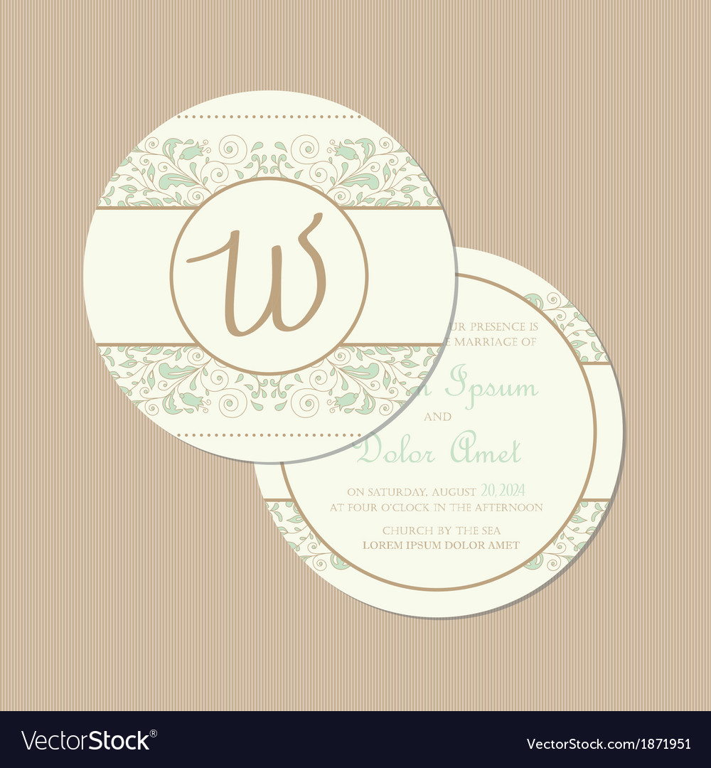 Round vintage card vector | Price: 1 Credit (USD $1)