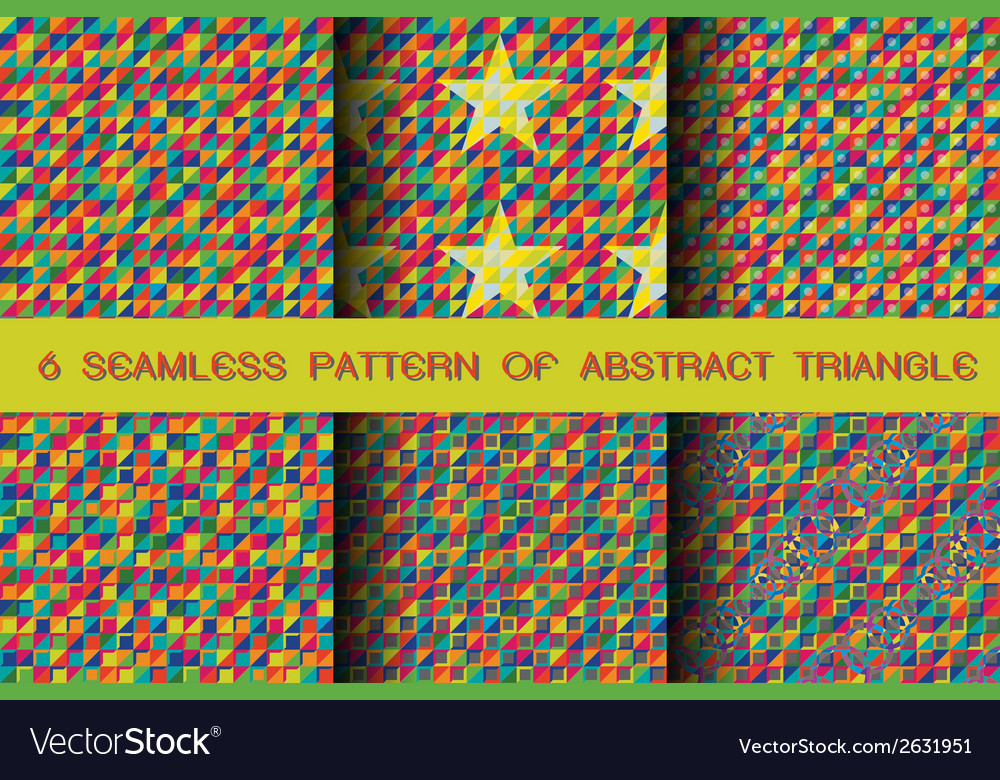 Seamless pattern of abstract triangle background vector | Price: 1 Credit (USD $1)