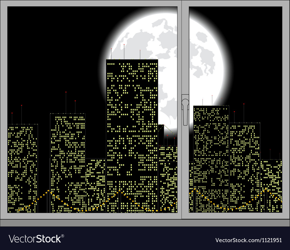 View out of the window vector | Price: 1 Credit (USD $1)