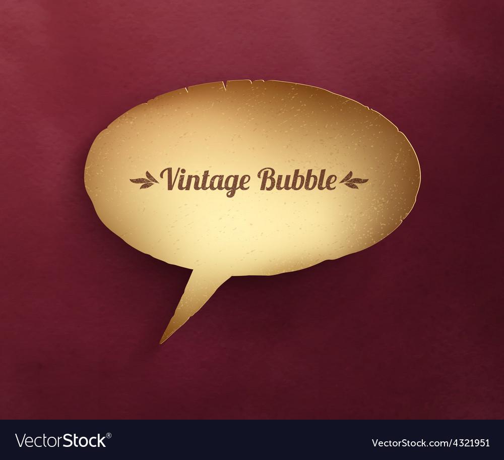 Vintage paper bubble talk vector | Price: 1 Credit (USD $1)