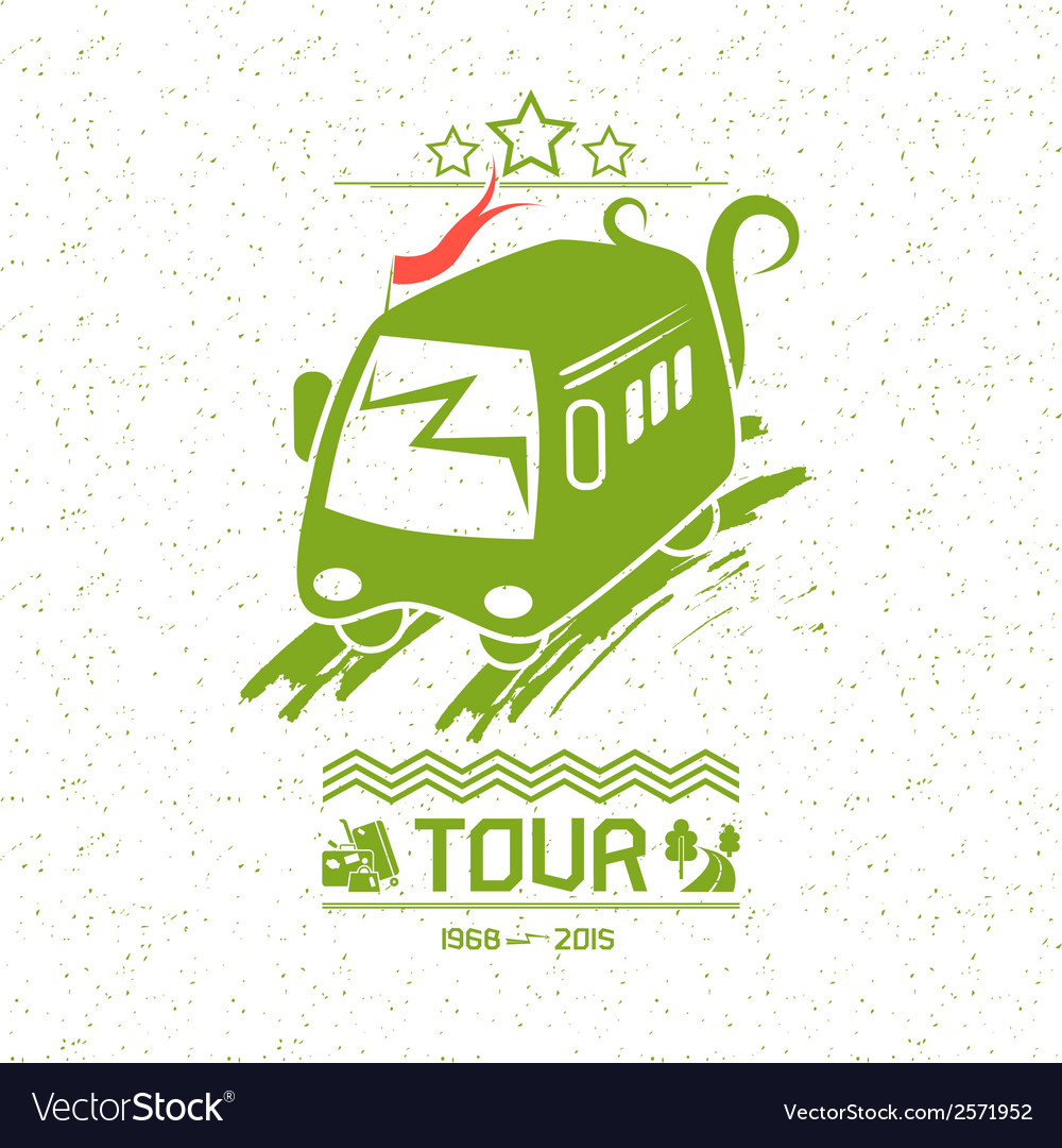 Bus travel vector | Price: 1 Credit (USD $1)