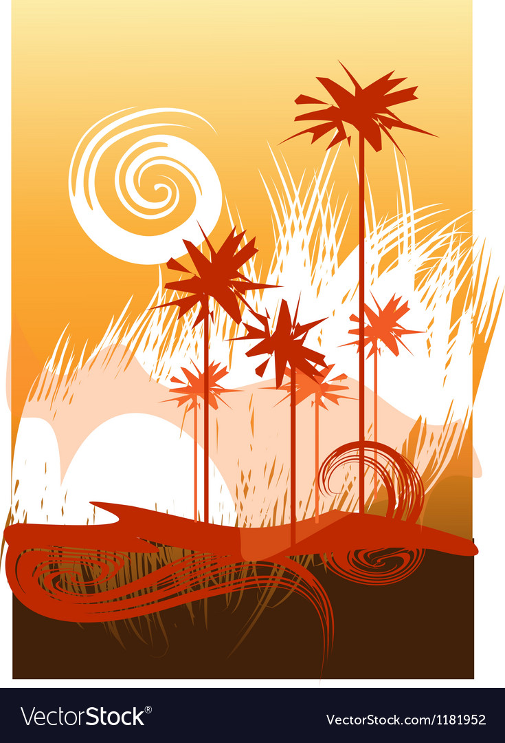 Desert theme vector | Price: 1 Credit (USD $1)