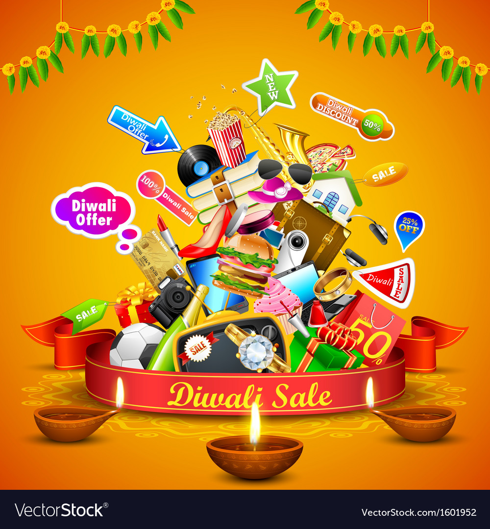 Diwali festive offer vector | Price: 3 Credit (USD $3)