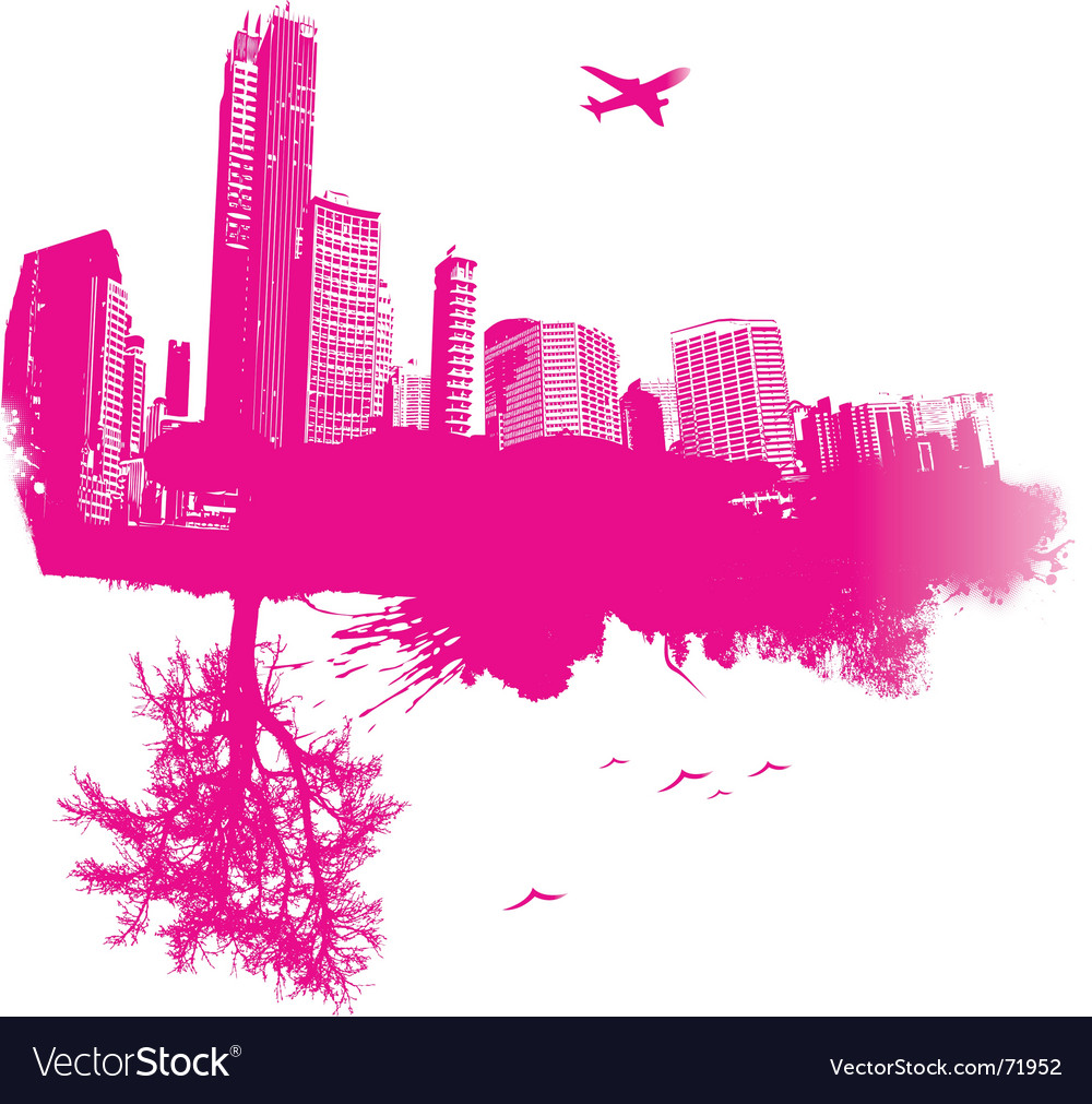 Nature and city vector | Price: 1 Credit (USD $1)