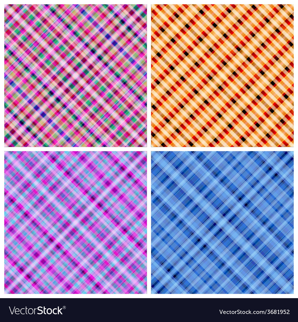 Set of 4 seamless pinstripe pattern vector | Price: 1 Credit (USD $1)