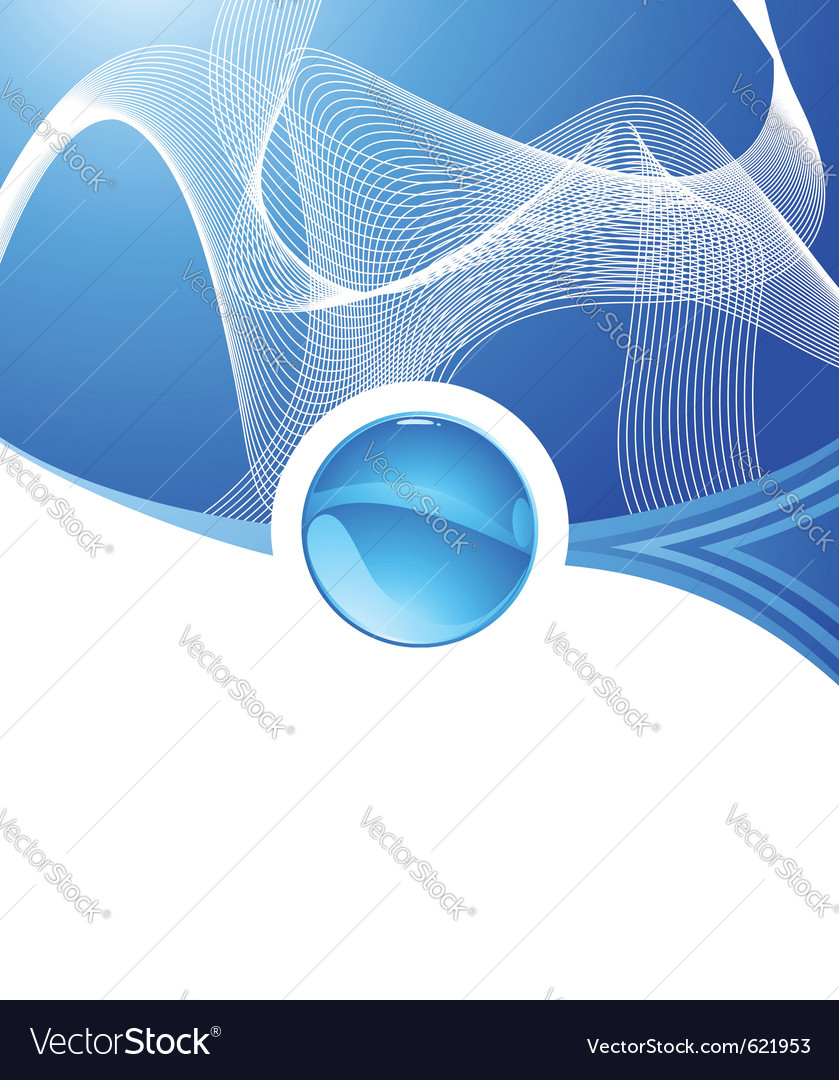 Abstract aqua concept vector | Price: 1 Credit (USD $1)