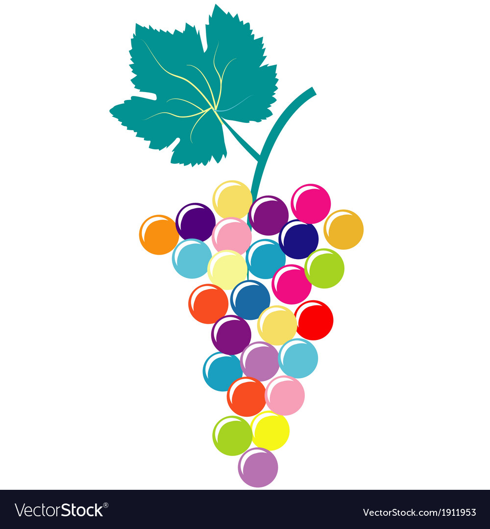Abstract colorful bunch of grapes vector | Price: 1 Credit (USD $1)