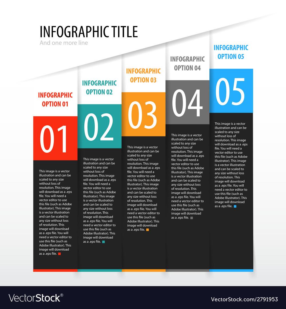 Flat vertical infographics options banner set vector | Price: 1 Credit (USD $1)