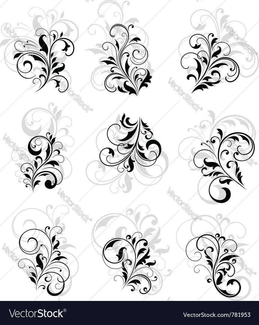 Flourish design elements vector | Price: 1 Credit (USD $1)