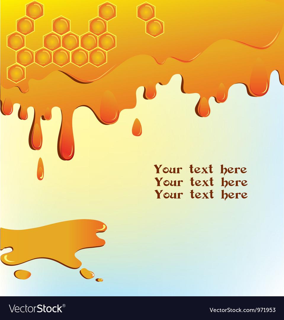 Flowing honey background vector | Price: 1 Credit (USD $1)