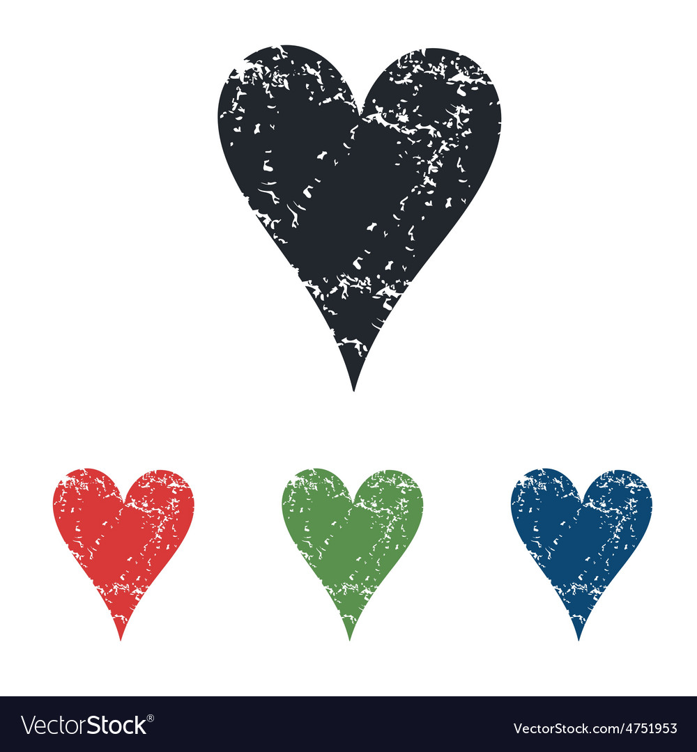 Hearts grunge icon set vector | Price: 1 Credit (USD $1)