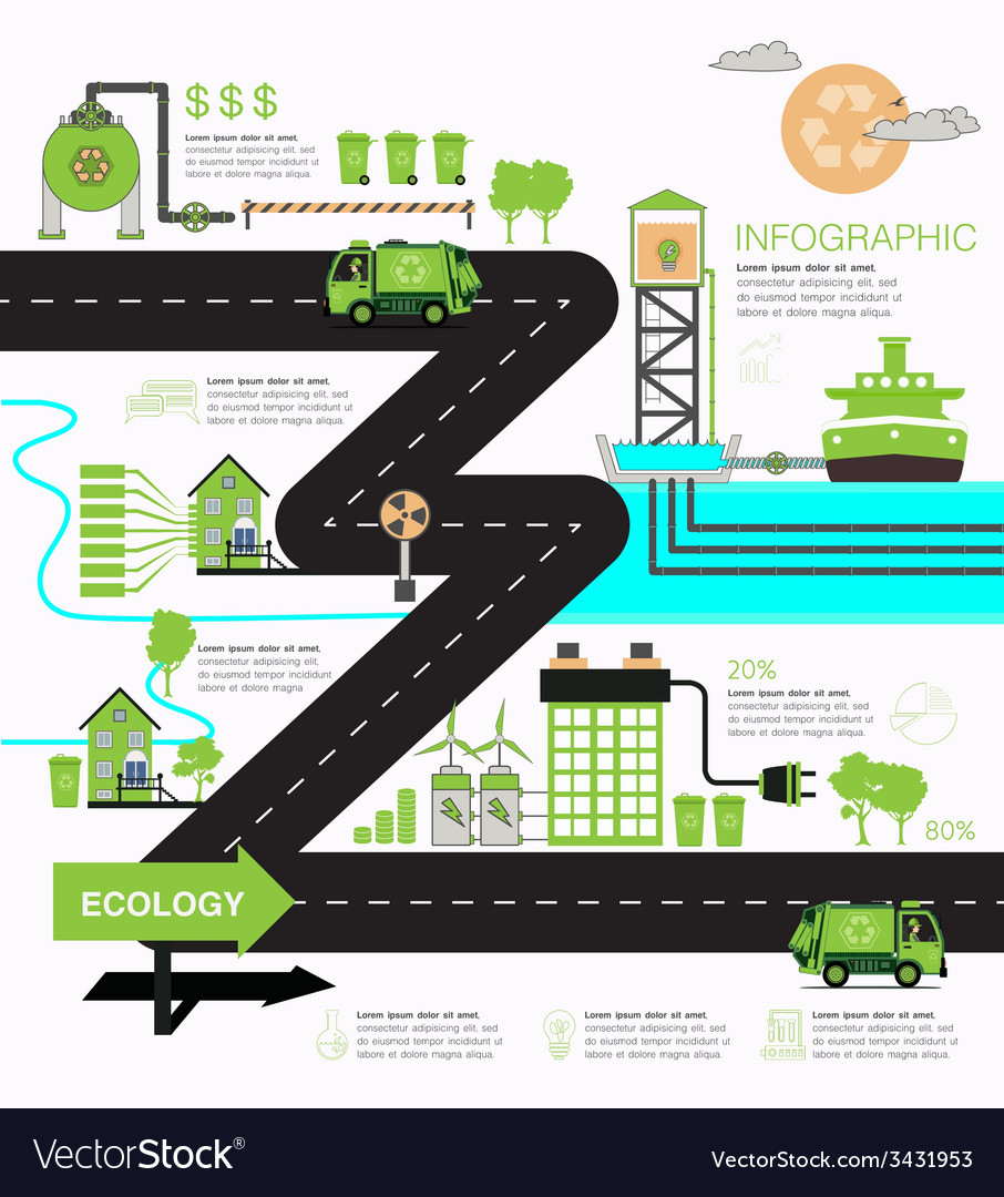 Infographic ecology vector   Price: 1 Credit (USD $1)
