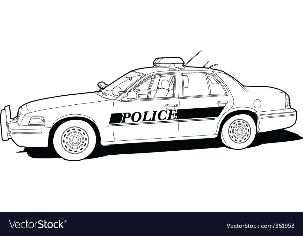 Police cruiser vector | Price: 1 Credit (USD $1)