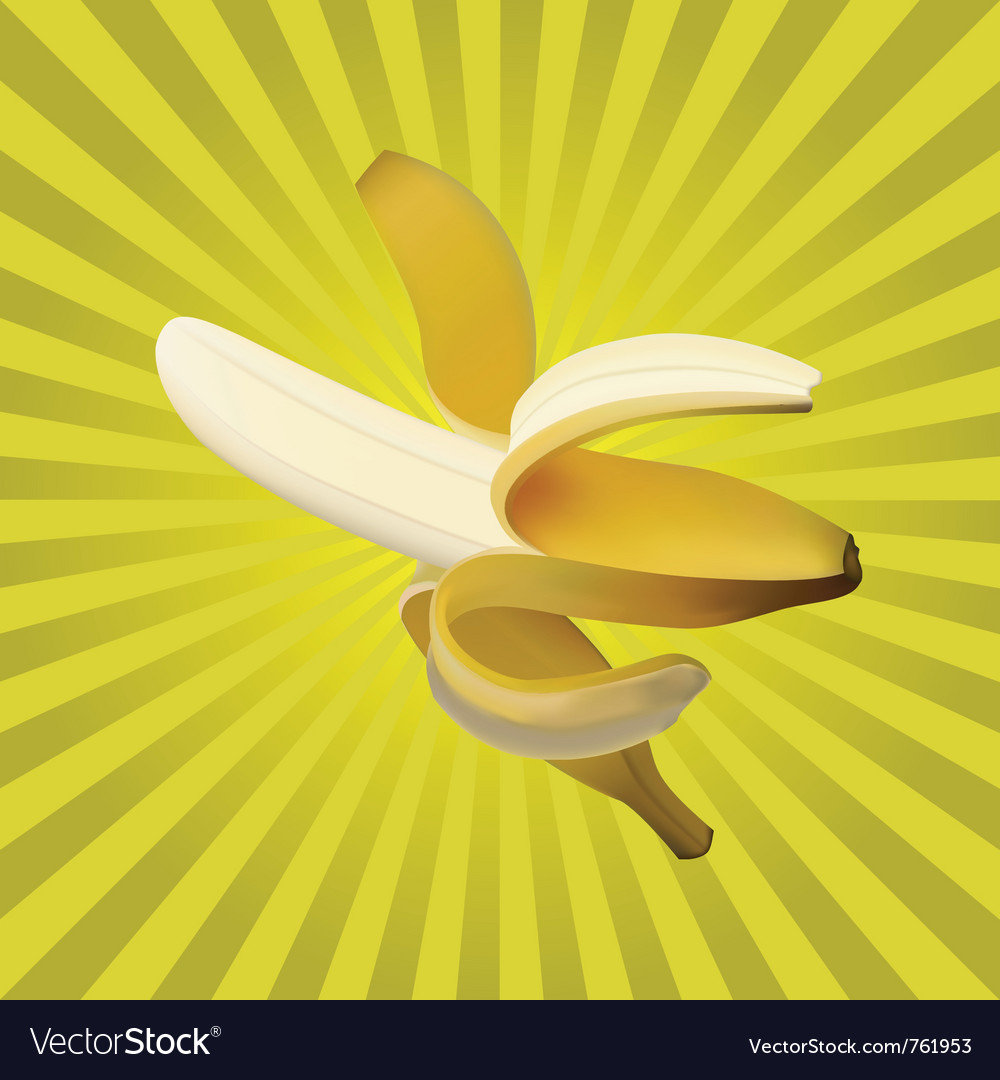 Ripe banana vector | Price: 1 Credit (USD $1)