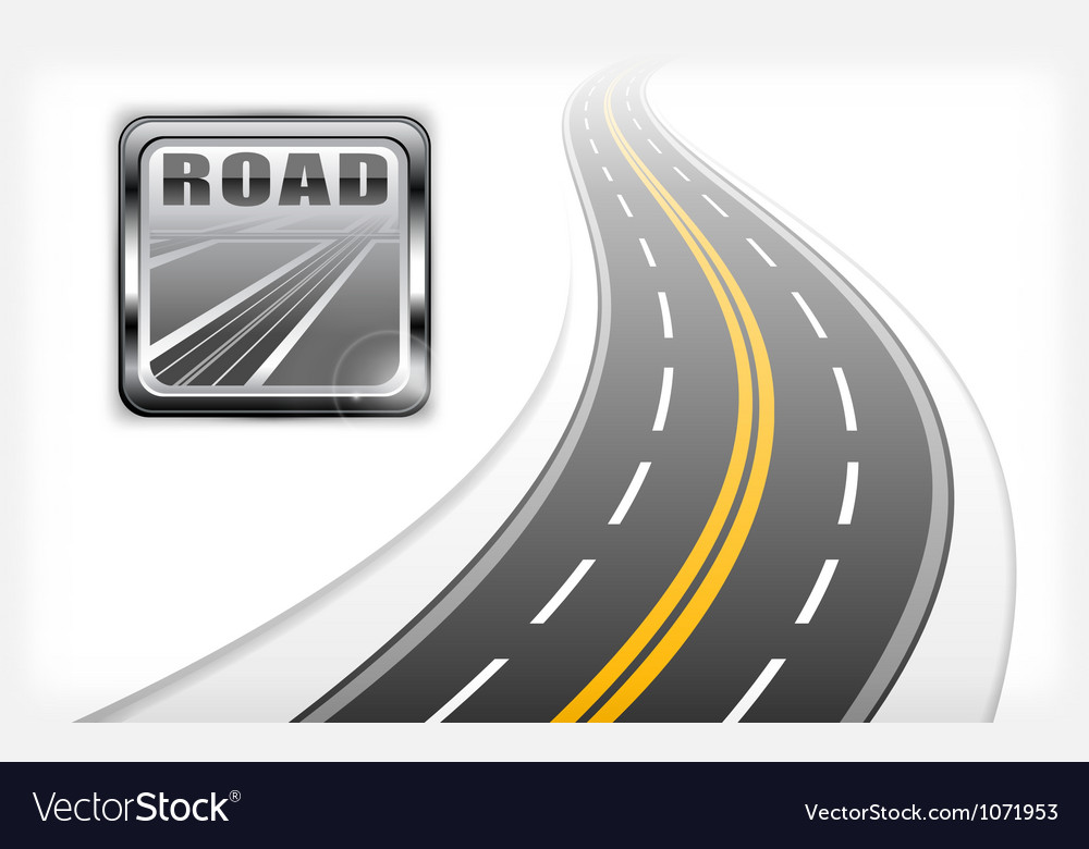 Road symbol element vector | Price: 1 Credit (USD $1)