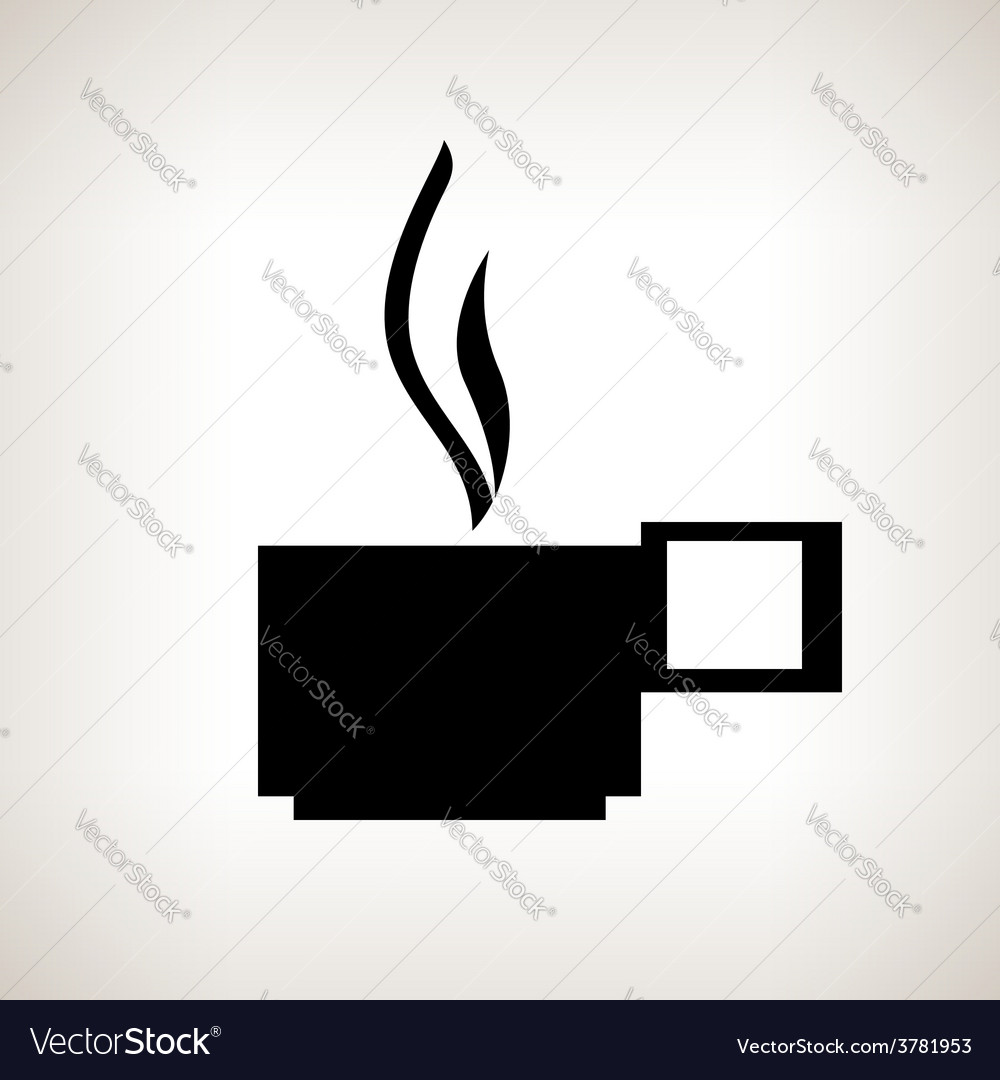 Silhouette cup with a hot drink on a light vector   Price: 1 Credit (USD $1)