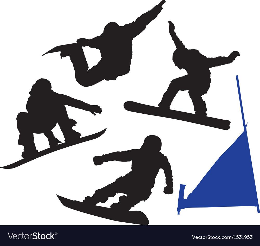 Snowboard silhouette vector | Price: 1 Credit (USD $1)